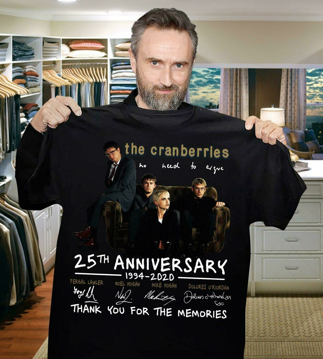 The Cranberries No Hud To Jue 25th anniversary thank you for the memories signatures shirt