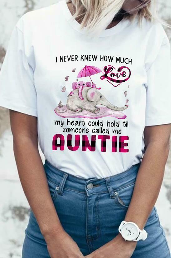 I Never Knew Til Someone Called Me Aunt Elephant Hippie Shirt