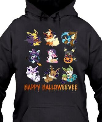 Eevee as Pokemon species Happy Halloweevee shirt