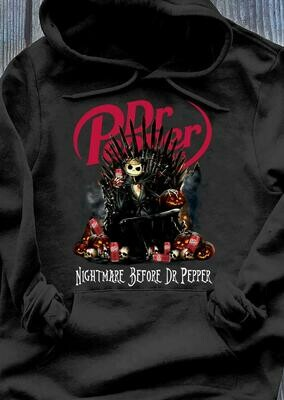Jack Skellington Nightmare Before Dr Pepper Shirt