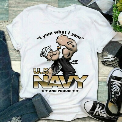 I Yam What I Yam Us Navy And Proud Shirt