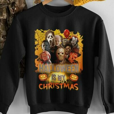 Awesome Horror Characters Halloween Is My Christmas shirt