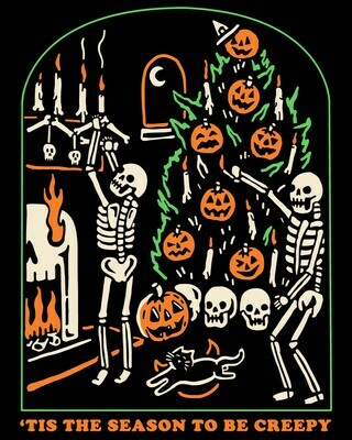 Tis the season to be creepy Halloween shirt