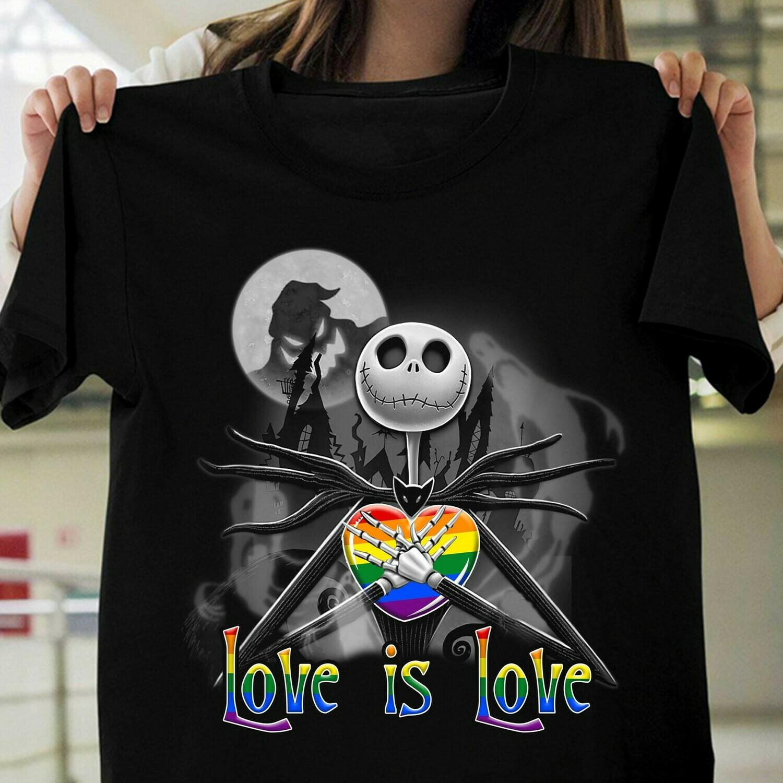 LGBT Jack Skeleton Love Is Love Shirt
