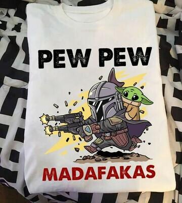 Spiderman pew pew madafakas shirt