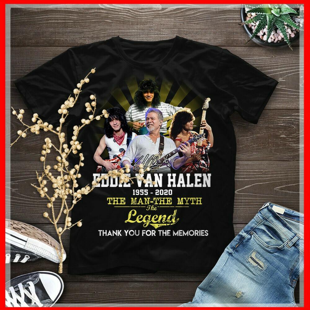 Eddie Van Halen 1955 2020 The Man The Myth The Legend Thank You For The Memories Shirt
