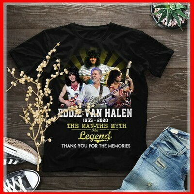 Eddie Van Halen 1955 2020 The Man The Myth The Legend Thank You For The Memories Shirt