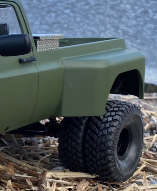 Dually rear fenders for RC4WD Blazer body