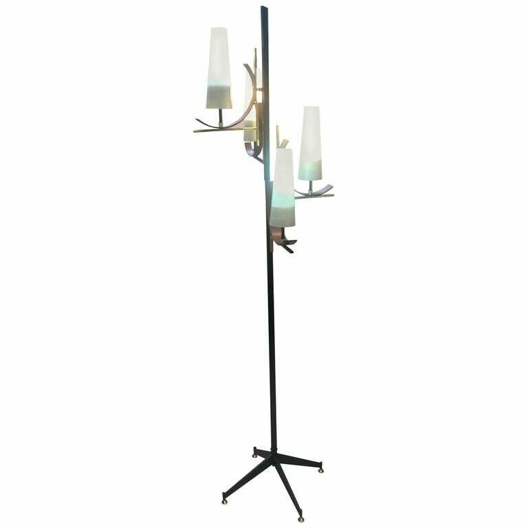 Stilnovo Style Mid-Century Modern Italian Floor Lamp, 1950