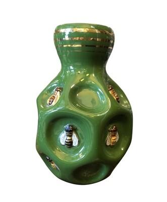 Mid-Century Modern Green Ceramic Italian Vase by San Polo, circa 1960