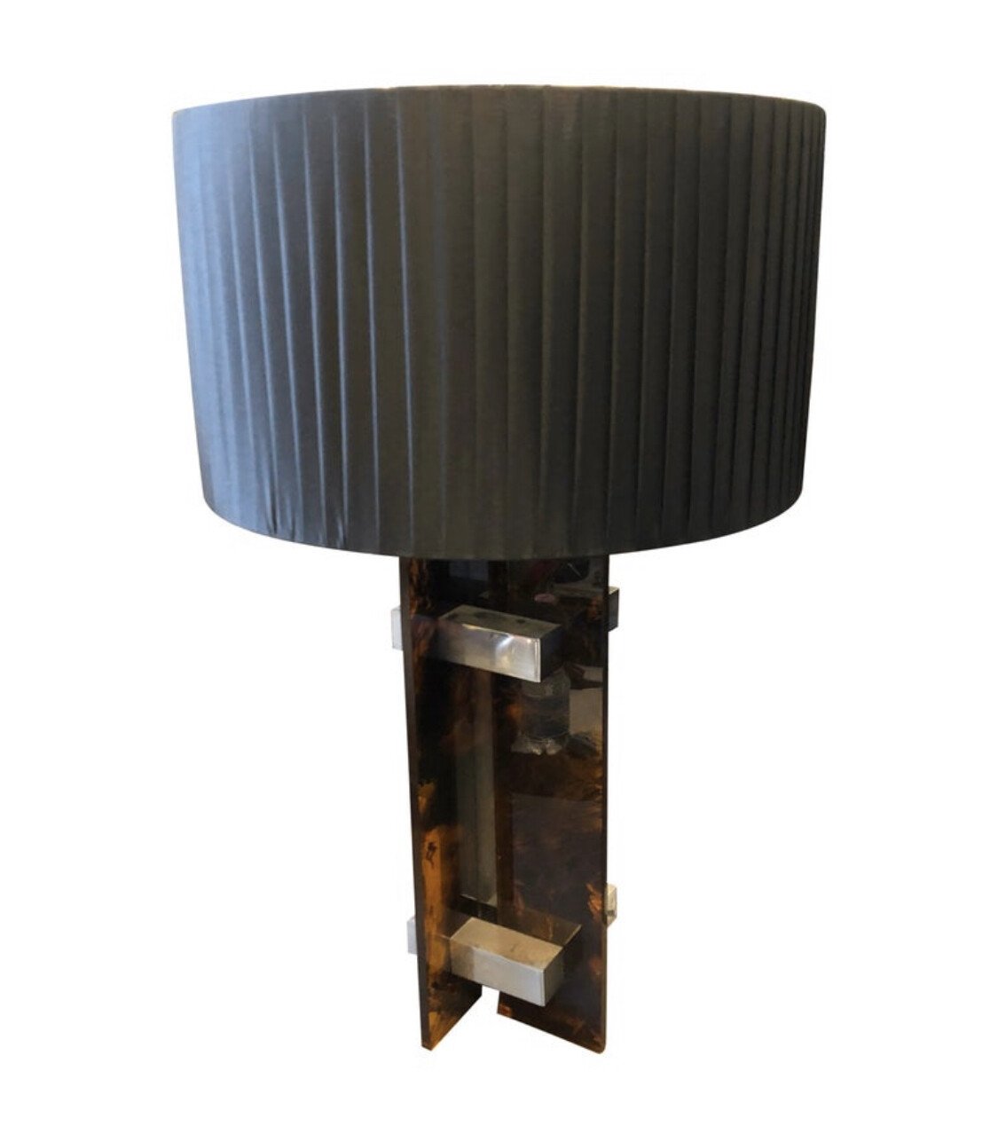 Gaetano Sciolari Mid-Century Modern Lucite and Steel Italian Table Lamp, 1970