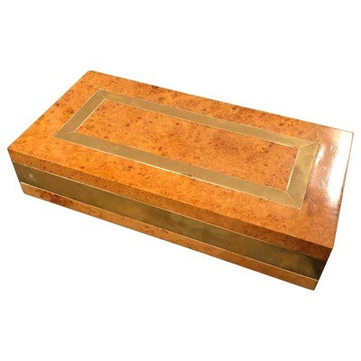 Romeo Rega wood and brass box circa 1970