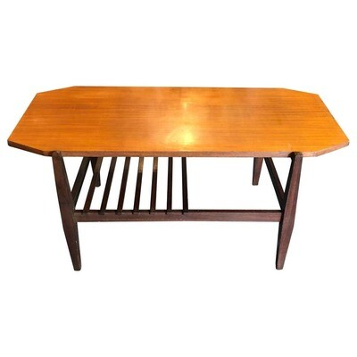 Mid-Century Modern Wood Italian Octagonal Coffee Table, circa 1960