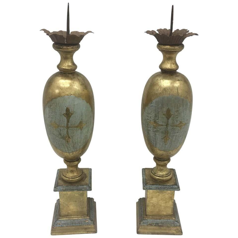 Pair of Italian Wood Torchères, circa 1930