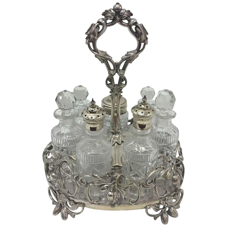 T. Elkington Victorian silver plated British Table Cruet Set 1870
