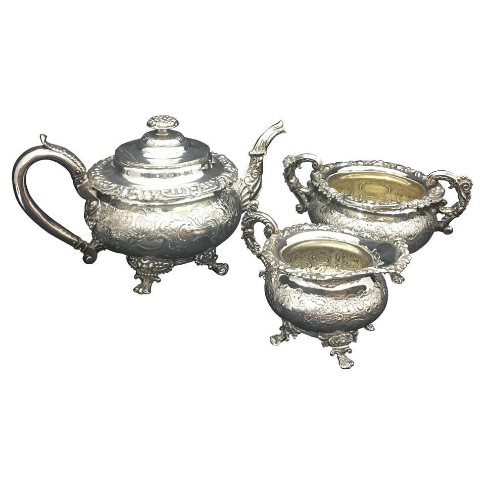 Regency Tea Set Made in England, circa 1818