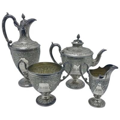 Martin & Hall Victorian Silver Plated English Tea Set 1898