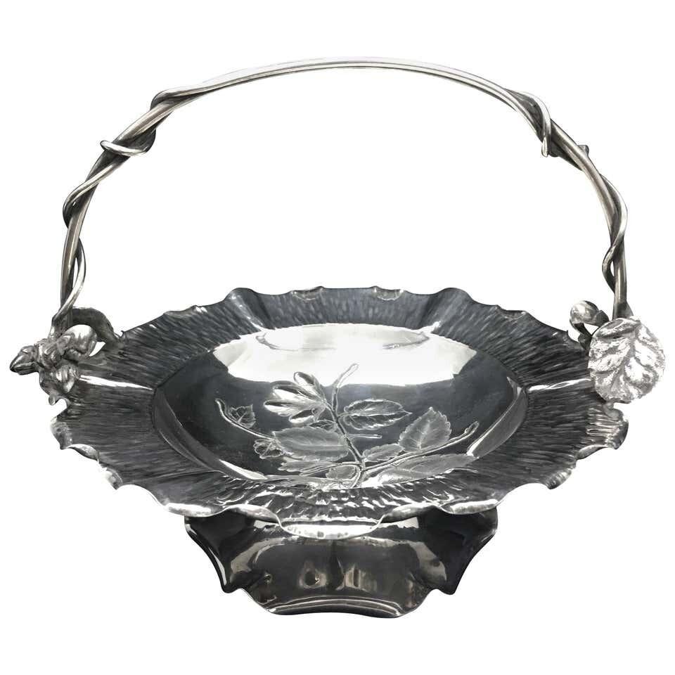 Art Nouveau Silver Plate Basket by Hukin & Heath, circa 1900