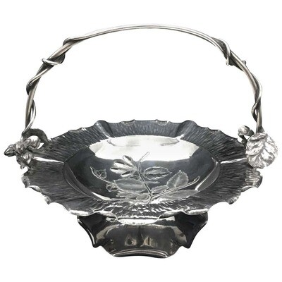 Art Nouveau Silver Plate Basket by Hukin & Heath, circa 1900