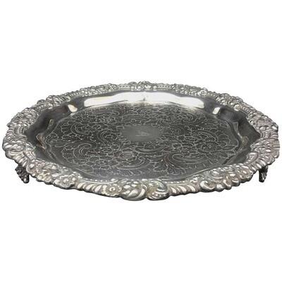 English Sheffield Plate Salver, Georgian Period, circa 1830