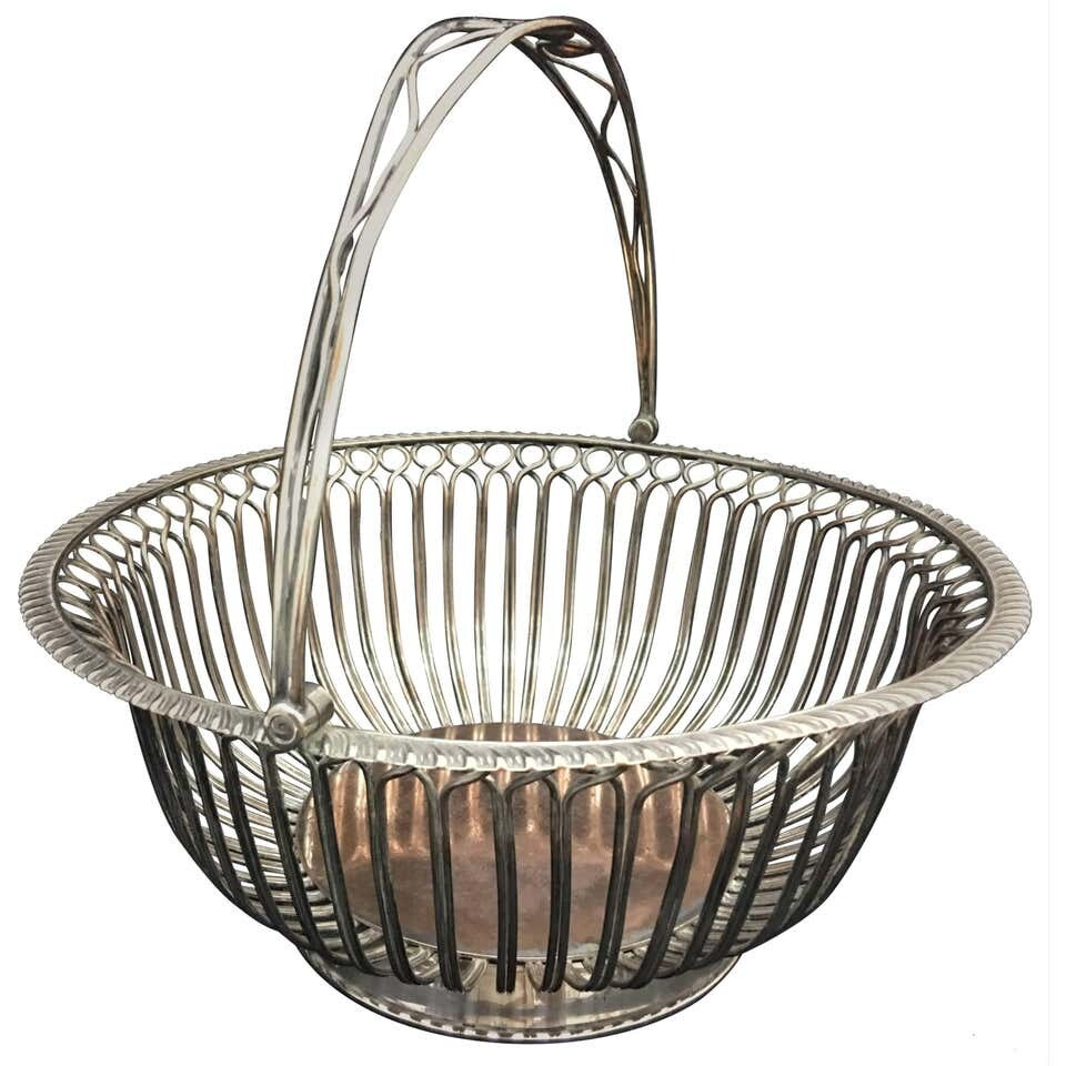 Regency Sheffield Plate Bread Basket, circa 1805