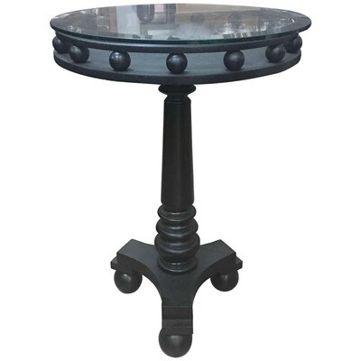 Italian Art Deco Black Side Table, circa 1935