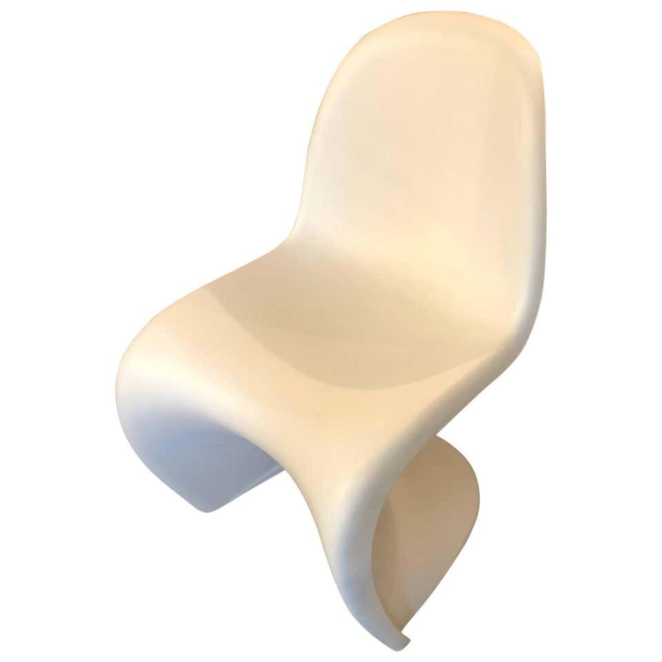 Verner Panton Space Age Iconic Deutsch White Abs Chair for Vitra