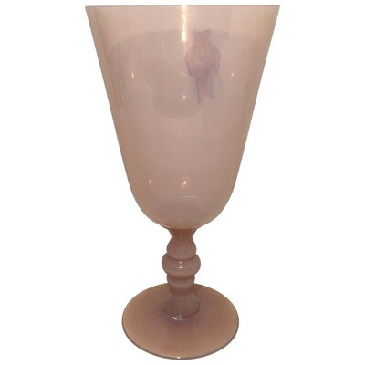 Italian Pink Murano Glass Goblet, circa 1930