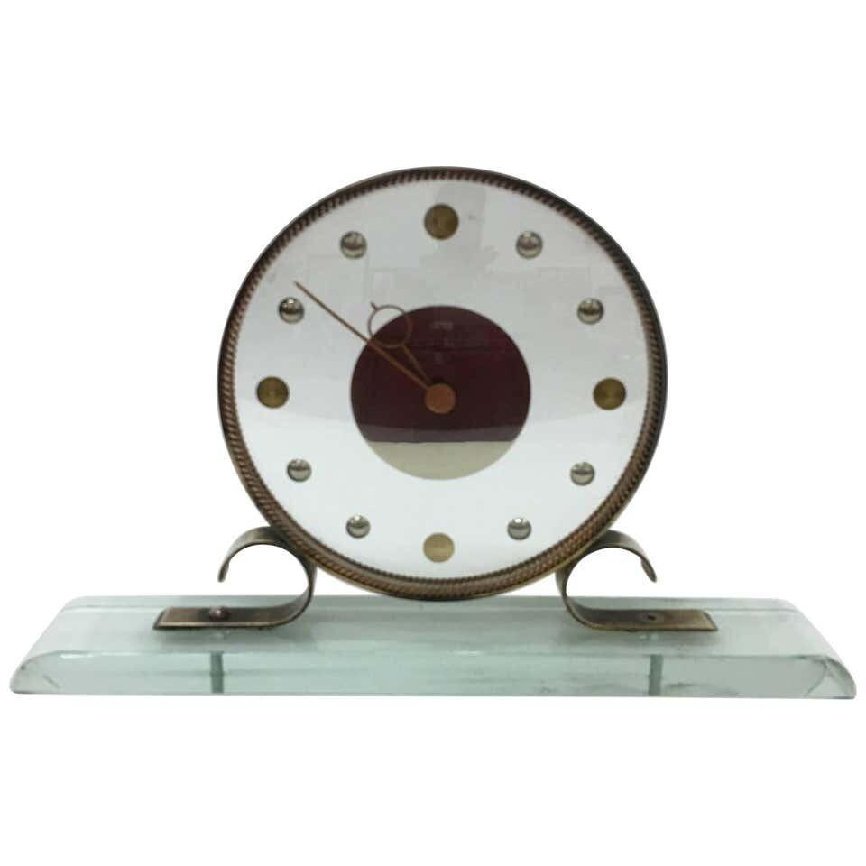 Mid-Century Modern Table Clock Iatos Per Venini
