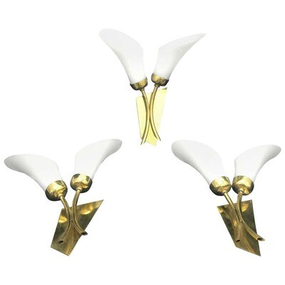 Mid-Century Modern Wall Sconces, Italy, 1950