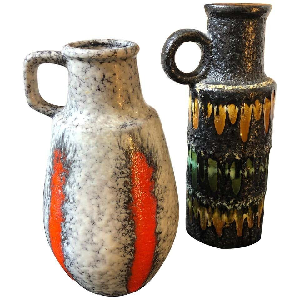 Two Lava Keramik German Jugs by Scheurich, circa 1970