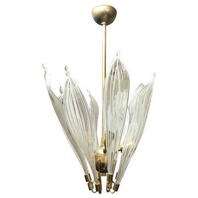Mid-Century Modern Brass and Murano Glass Pendant by La Murrina, circa 1970