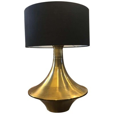 Mid-Century Modern Brass Italia Table Lamp in the Style of Willy Rizzo