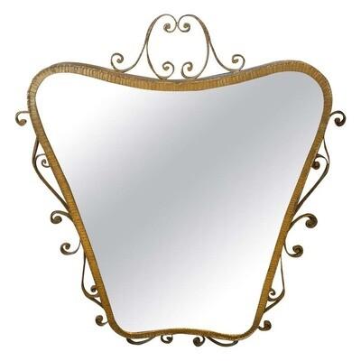 Pier Luigi Colli Mid-Century Modern Shaped Wall Mirror, circa 1950