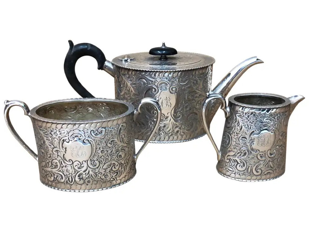 Superb Quality Victorian Silver Plated English Tea Set, circa 1870