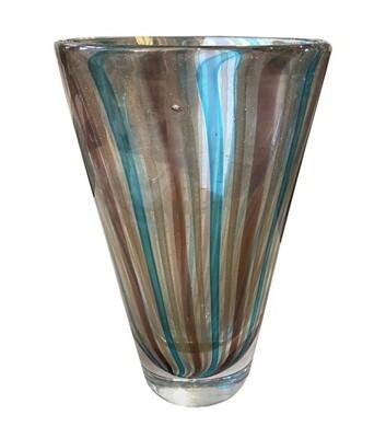 Mid-Century Modern Heavy Murano Glass Vase, circa 1970