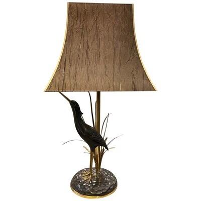 Lanciotto Galeotti Mid-Century Modern Brass Italian Table Lamp, circa 1950