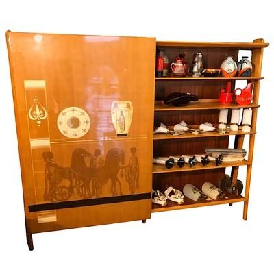 Vittorio Dassi Mid-Century Modern Bookcase and Wardrobe, circa 1960