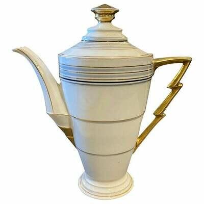 1930s Art Deco Porcelain German Coffee Pot