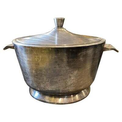 1950 Art Deco Gio Ponti for Broggi Milano Silver Plated Soup Tureen
