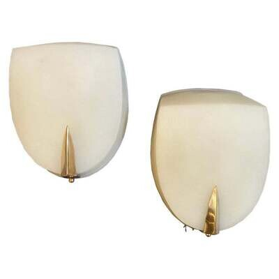 1930s Art Deco Rationalist Italian Wall Sconces in the Manner of Giò Ponti