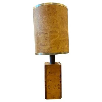 1970s Mid-Century Modern Walnut Italian Table Lamp