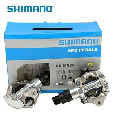 SHIMANO PD-M520 MTB PEDALS SILVER