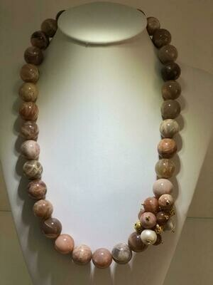 Collana Realizzata interamente a mano in argento 925 con doratura (calvanica in oro)