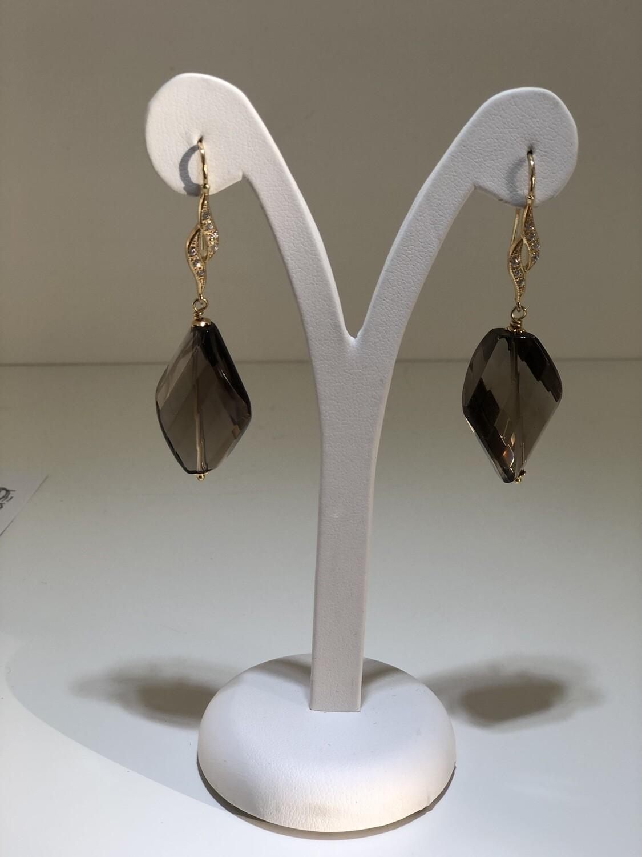 Orecchini fiocco argento bagnati in oro