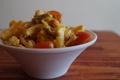 Roasted Saffron Cauliflower Salad
