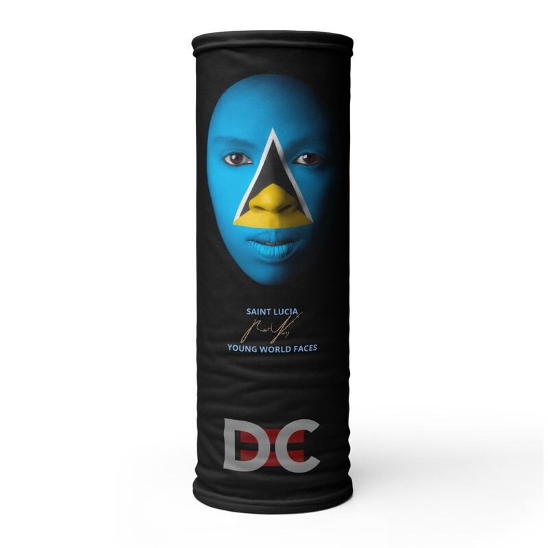 DC=YOUNG WORLD FACES Face Mask (SAINT LUCIA)