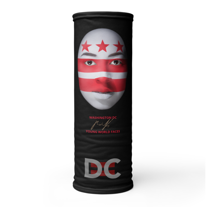 DC=YOUNG WORLD FACES Face Mask  (WASHINGTON DC)