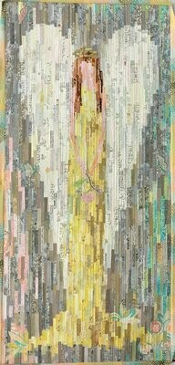 32 x 36 LHFWNOEL Noel Angel Applique Quilt Pattern by Laura Heine from Fiberworks Inc