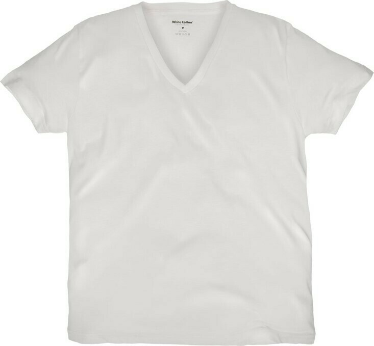 Camiseta White Cotton Cuello V
